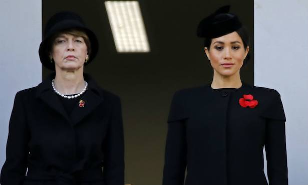 Why was Meghan Markle on a different balcony to Kate Middleton and the Queen Photo C GETTY