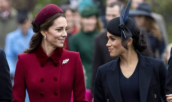 1 Kate and Meghan walked in to church together Image GETTY