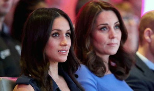 A journalist has said the media is more interested in a cat fight between Meghan and Kate Image GETTY