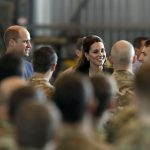 After meeting crew from RAF Akrotiri and other forces in a hangar William praised the efforts of Britains Armed Forces