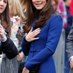 An expressive Kate arrived at the Dundee Rep Theatre in Scotland ready to chat with fans and well wishers Photo C GETTY