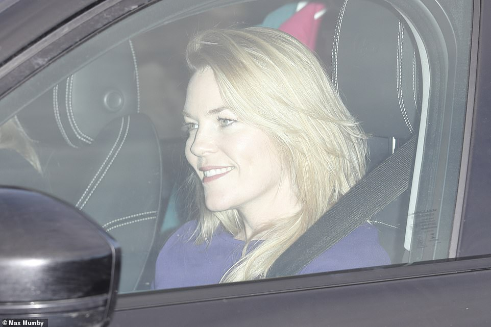 Autumn Phillips the wife of Peter Phillips and Princess Annes daughter in law arriving for the meal on Wednesday