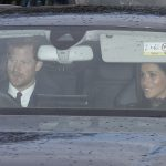 Bringing the glamour The Duke and Duchess of Sussex drove their own car into the palace for the family meal 1