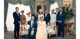 Carole Middleton with her family at Prince Louis christening Photo C GETTY