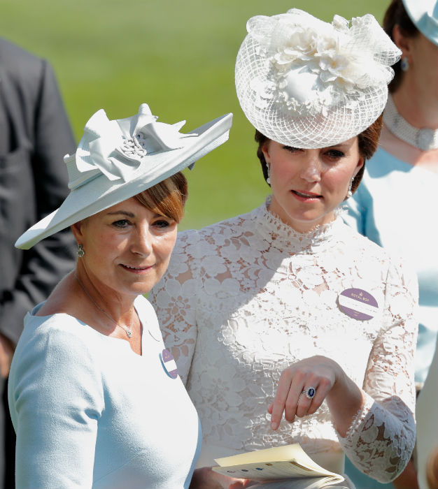 Carole is often seen at royal events with daughter Kate Photo C GETTY IMAGES