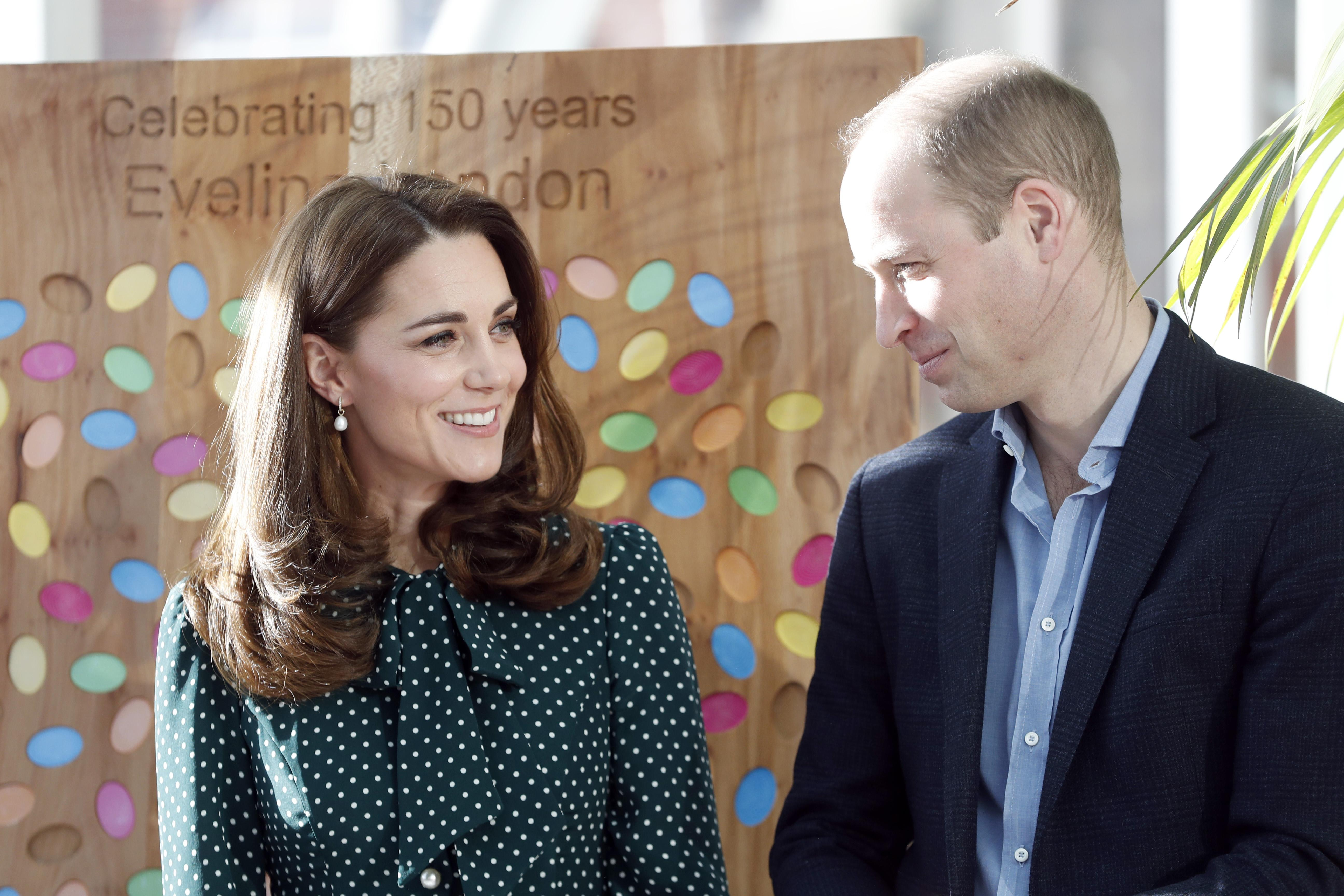 Catherine Duchess of Cambridge and Prince William Duke of Cambridge during a visit to Evelina London Childrens Hospital on Dec 11 2018 in London Photo Chris Jackson Getty Images