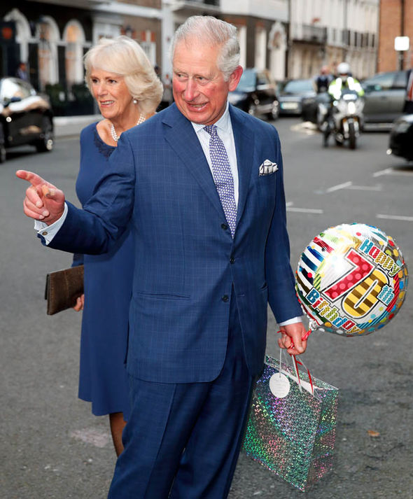 Charles celebrated his 70th birthday in November Image GETTY