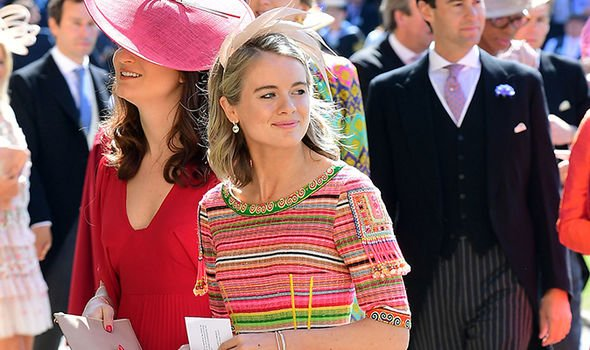 Cressida Bonas at the Royal wedding in May Image GETTY