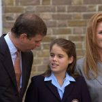 Despite announcing their split in 1992 Sarah Ferguson and Prince Andrew remained on good terms and attended Princess Eugenie's first day of school together Photo Getty Images