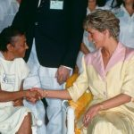 Diana visits AIDS patients in hospital in Brazil 1991 Image Getty