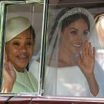 Doria was the only member of Meghans family invited to her wedding too Image GETTY