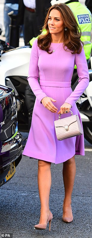 Thrifty and perfectly co ordinated The Duchess of Cambridge has been increasingly been taking style notes from the Queen since returning from her maternity leave in October