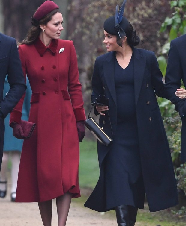 FRIENDS There were rumours of a feud between Meghan Markle and Kate Middleton Pic PA