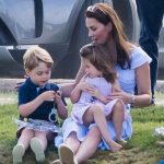 Fun mum Kate was pictured playing with her two eldest children Prince George and Princess Charlotte at a charity polo match in the summer Photo C GETTY