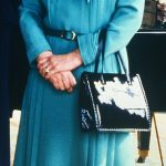 Her ensemble looks as if it could have come straight from the Queens wardrobe pictured in a similar dress in 1981 at Buckingham Palace
