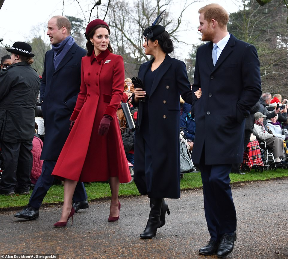 Hundreds of wellwishers braved the chilly weather to come out to see members of the Royal Family attend todays church service