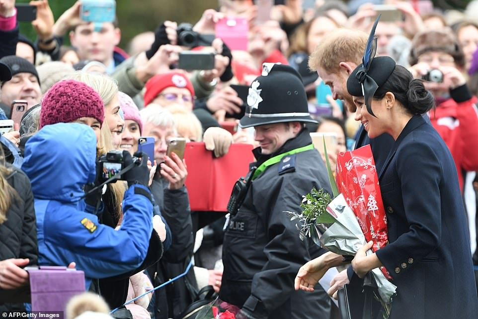 Hundreds of wellwishers had come out to see the royals this morning and tried to get their own pictures