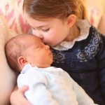 In his first appearance since his birth the palace released photographs of Louis and his older sister Charlotte just 13 days after he was born