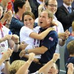 In one of the cutest images ever snapped Kate clung to William when Team GB took home the gold medal in the team sprint contest during the 2012 London Olympics Photo C GETTY