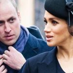 In the video William fiddled with his scarf and appeared to ignore Meghan Image GETTY 1