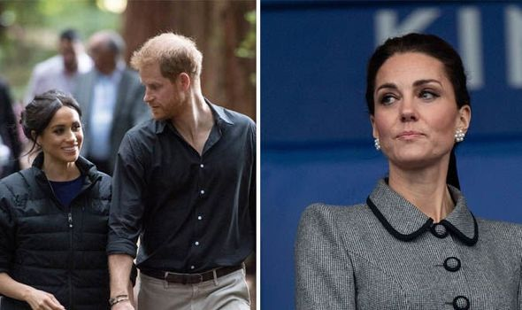 It is claimed Meghan has changed Harry and Kate is sad about it Image GETTY