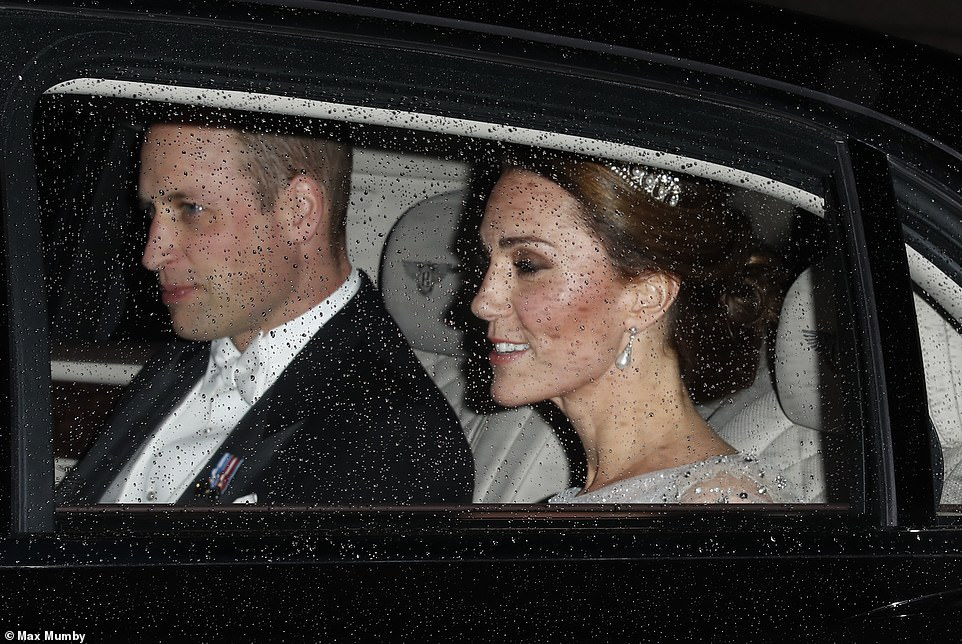 Kate 36 joined husband Prince William 36 and hundreds of esteemed guests for the Queens the Diplomatic Reception