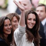Kate Carole and Pippa Middleton pictured the day before the royal wedding in 2011 Photo Getty