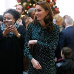 Kate Middleton looked elegant in polkadots Image GETTY