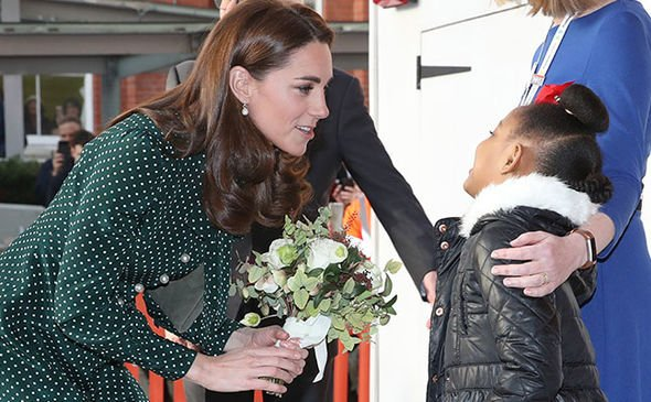 Kate Middleton met with children at the hospital Image GETTY