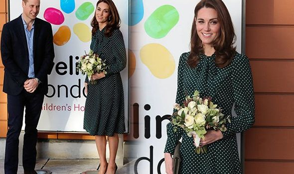 Kate Middleton wore LK Bennett to visit a childrens hospital Image PA