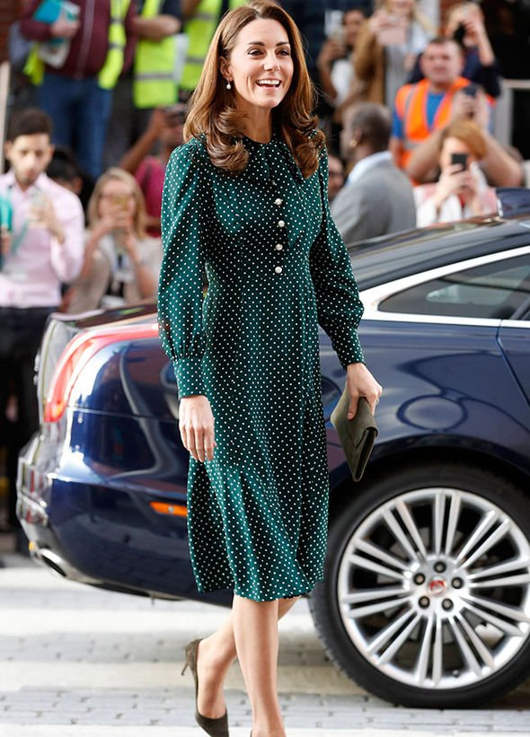 Kate Middleton wore head to toe LK Bennett Image GETTY