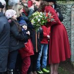 Kate also stopped to chat to some young royal fans who braved the chilly Norfolk weather to catch a glimpse of the Royal Family