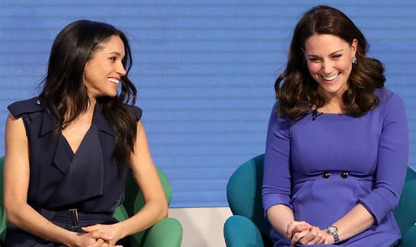 Kate and Meghan Markle in February 2018 Image GETTY