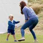 Kate played around with son Prince George during the Gigaset Charity Polo Match Photo C GETTY
