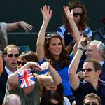 Kate rooted for British tennis champ Andy Murray during the London Summer Games in 2012 Photo C GETTY