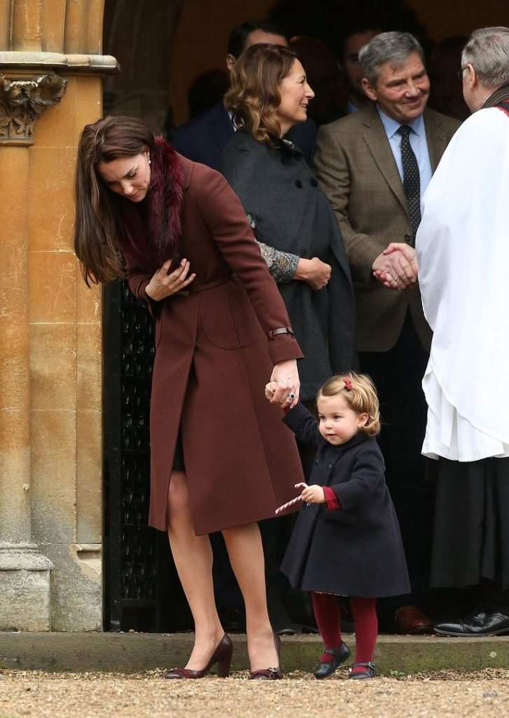 Kate seen attending church with her parents and Princess Charlotte on Christmas day