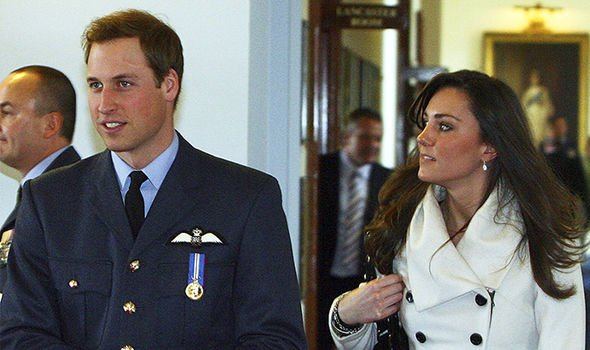 Kate with Prince William in 2008 Image GETTY