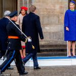 King Willem Alexander Queen Maxima Jorge Carlos Fonseca and Ligia Dias Fonseca all looked on during the inspection of the guard of honour