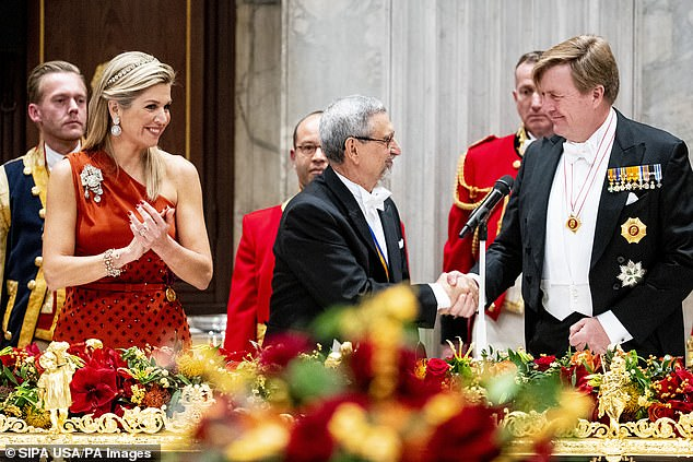 King Willem Alexander and Queen Maxima offered the state banquet to Jorge Carlos de Almeida Fonseca