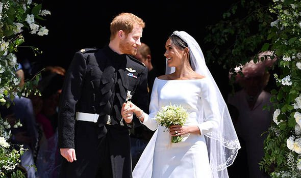 Meghan Markle and Prince Harry got married in May earlier this year Image GETTY