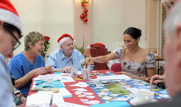 Meghan Markle due date The Duchess visited the Royal Variety Charity's residential nursing home Image PA