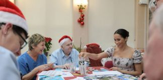 Meghan Markle joined elders in making Christmas decorations Image GETTY