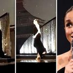 Meghan Markle nearly tumbled as she missed a step during a surprise appearance at the BFA Image INSTAGRAM niomismart•GETTY