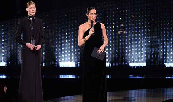 Meghan Markle wowed the audience with a stunning one shoulder Givenchy gown Image GETTY
