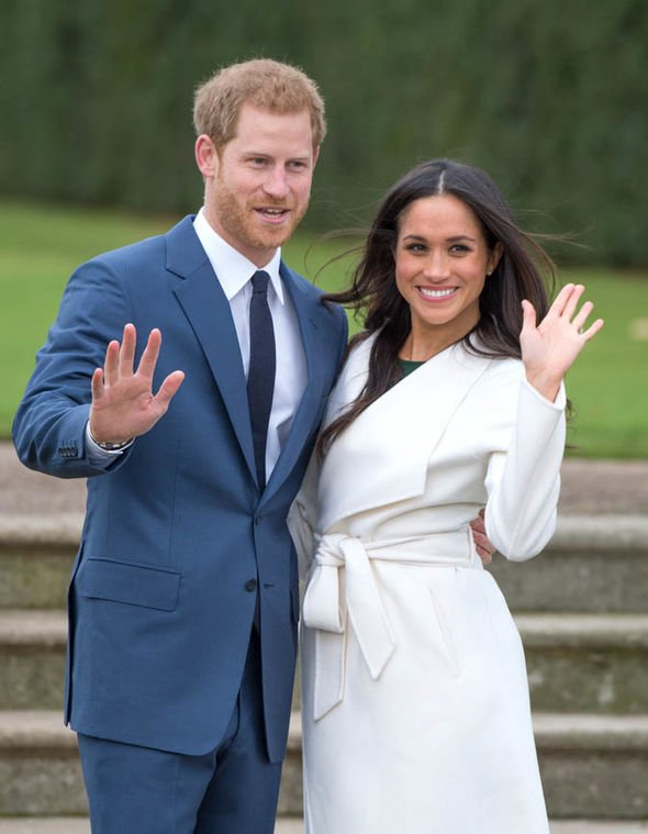 Meghan and Harry announced their engagement in November 2017 Image GETTY