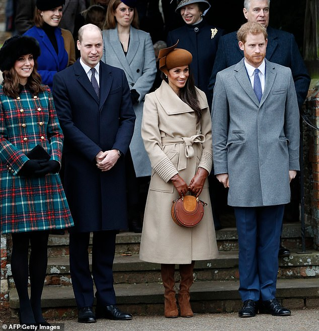 Meghan and Harry are set to stay with Kate and William pictured together at Sandringham alst year at their Norfolk home again this Christmas insiders have revealed