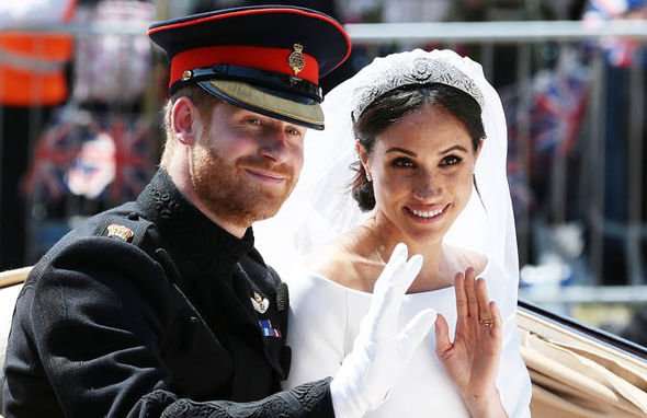 Meghan and Harry wed in May Image GETTY 1