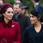 Meghan and Kate put on a friendly display as they attended the Christmas church service Image GETTY