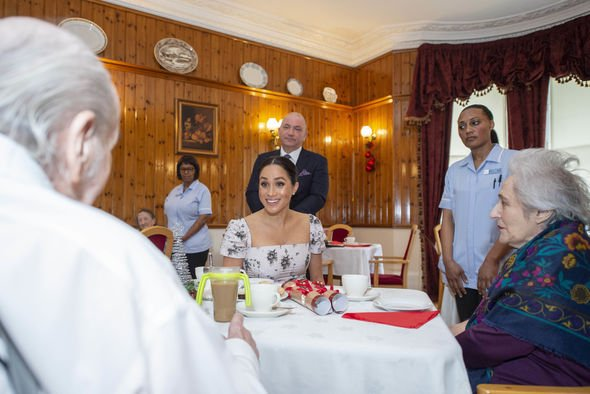 Meghan joined in the festive celebrations Image GETTY