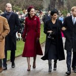 Meghan joined other royals to greet crowds after leaving St Mary Magdalene Church on Christmas Day Image Getty
